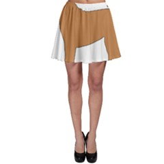 Chinese Shar Pei Silo Color Skater Skirt