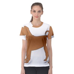 Chinese Shar Pei Silo Color Women s Sport Mesh Tee