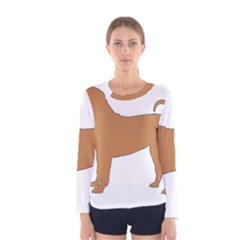 Chinese Shar Pei Silo Color Women s Long Sleeve Tee