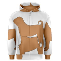 Chinese Shar Pei Silo Color Men s Zipper Hoodie