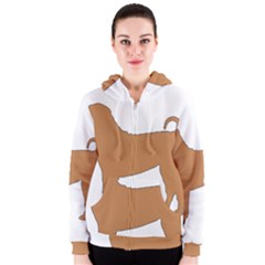 Chinese Shar Pei Silo Color Women s Zipper Hoodie