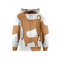 Chinese Shar Pei Silo Color Kids  Zipper Hoodie