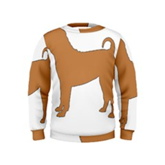 Chinese Shar Pei Silo Color Kids  Sweatshirt