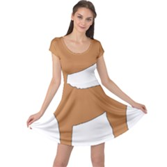 Chinese Shar Pei Silo Color Cap Sleeve Dresses