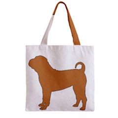 Chinese Shar Pei Silo Color Zipper Grocery Tote Bag