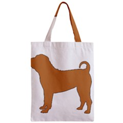 Chinese Shar Pei Silo Color Zipper Classic Tote Bag