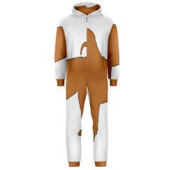 Chinese Shar Pei Silo Color Hooded Jumpsuit (Men)