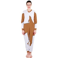 Chinese Shar Pei Silo Color OnePiece Jumpsuit (Ladies)