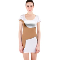 Chinese Shar Pei Silo Color Short Sleeve Bodycon Dress