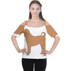 Chinese Shar Pei Silo Color Women s Cutout Shoulder Tee