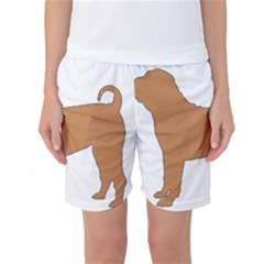 Chinese Shar Pei Silo Color Women s Basketball Shorts