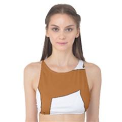 Chinese Shar Pei Silo Color Tank Bikini Top