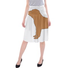 Chinese Shar Pei Silo Color Midi Beach Skirt
