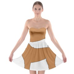 Chinese Shar Pei Silo Color Strapless Bra Top Dress
