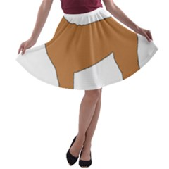Chinese Shar Pei Silo Color A-line Skater Skirt