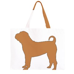 Chinese Shar Pei Silo Color Large Tote Bag