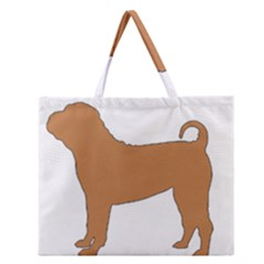 Chinese Shar Pei Silo Color Zipper Large Tote Bag