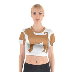Chinese Shar Pei Silo Color Cotton Crop Top