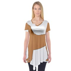 Chinese Shar Pei Silo Color Short Sleeve Tunic