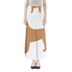 Chinese Shar Pei Silo Color Maxi Skirts