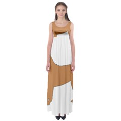 Chinese Shar Pei Silo Color Empire Waist Maxi Dress