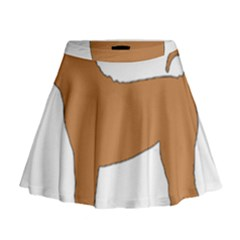 Chinese Shar Pei Silo Color Mini Flare Skirt