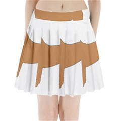 Chinese Shar Pei Silo Color Pleated Mini Skirt