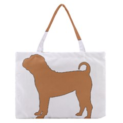 Chinese Shar Pei Silo Color Medium Zipper Tote Bag