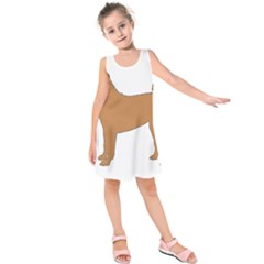 Chinese Shar Pei Silo Color Kids  Sleeveless Dress