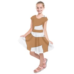 Chinese Shar Pei Silo Color Kids  Short Sleeve Dress