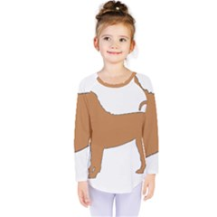Chinese Shar Pei Silo Color Kids  Long Sleeve Tee
