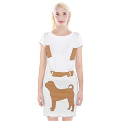 Chinese Shar Pei Silo Color Suspender Skirt