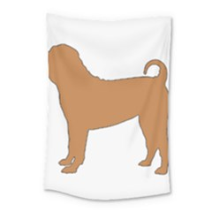 Chinese Shar Pei Silo Color Small Tapestry