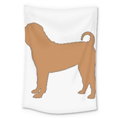 Chinese Shar Pei Silo Color Large Tapestry