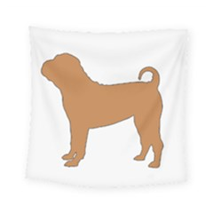 Chinese Shar Pei Silo Color Square Tapestry (Small)