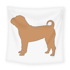 Chinese Shar Pei Silo Color Square Tapestry (Large)