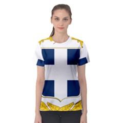 Greece National Emblem  Women s Sport Mesh Tee