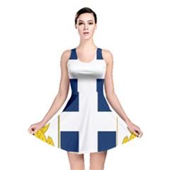 Greece National Emblem  Reversible Skater Dress