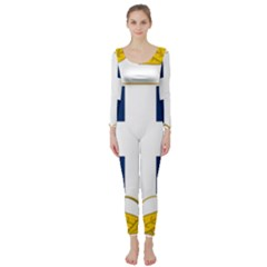 Greece National Emblem  Long Sleeve Catsuit