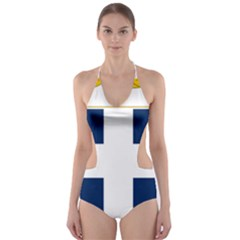 Greece National Emblem  Cut-Out One Piece Swimsuit