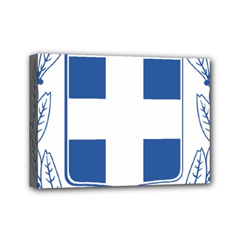 Greece National Emblem  Mini Canvas 7  x 5