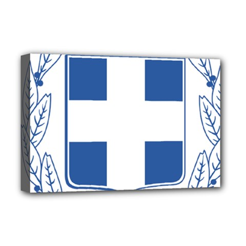 Greece National Emblem  Deluxe Canvas 18  x 12