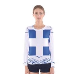 Greece National Emblem  Women s Long Sleeve Tee