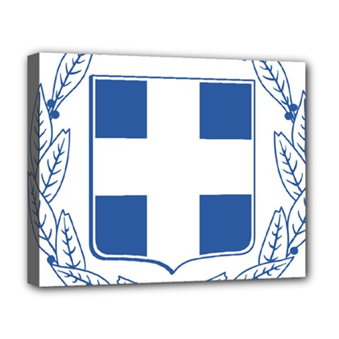 Greece National Emblem  Deluxe Canvas 20  x 16