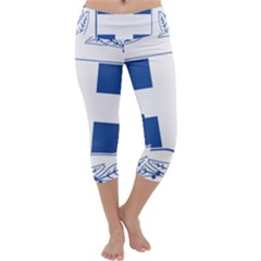 Greece National Emblem  Capri Yoga Leggings