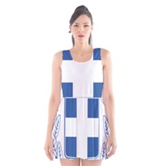 Greece National Emblem  Scoop Neck Skater Dress