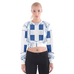 Greece National Emblem  Cropped Sweatshirt
