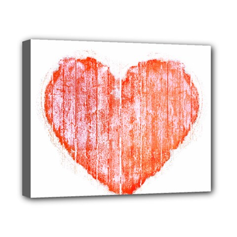 Pop Art Style Grunge Graphic Heart Canvas 10  x 8