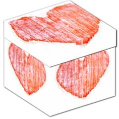 Pop Art Style Grunge Graphic Heart Storage Stool 12