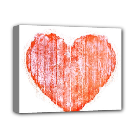 Pop Art Style Grunge Graphic Heart Deluxe Canvas 14  x 11